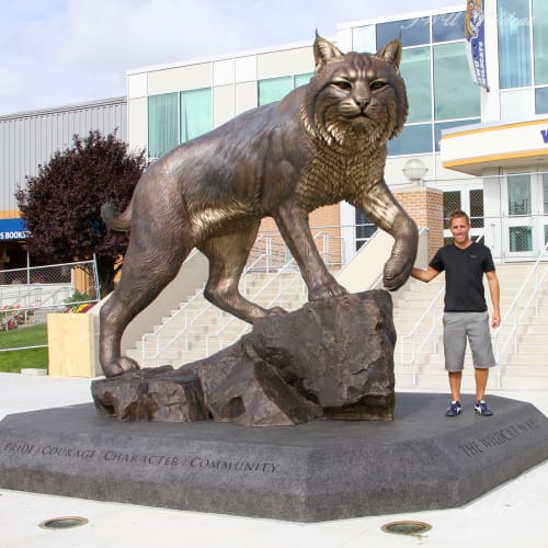 """Public Sculptures by Mike Fields Sculptures seen at Johnson & Wales University - North Miami, Miami - """"Wildcat"""" - Johnson & Wales University"""
