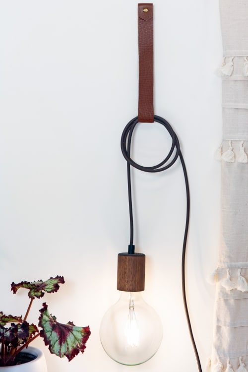 Hardware by Keyaiira | leather + fiber seen at Private Residence, Santa Rosa - Large Leather Wall Strap