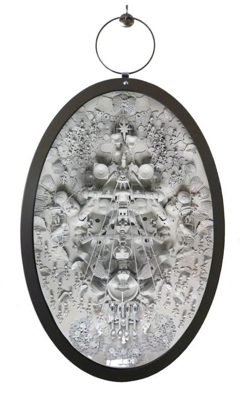 Art & Wall Decor by Carina Wagenaar seen at Private Residence - XXL Medallion Artwork 'Lets Focus'