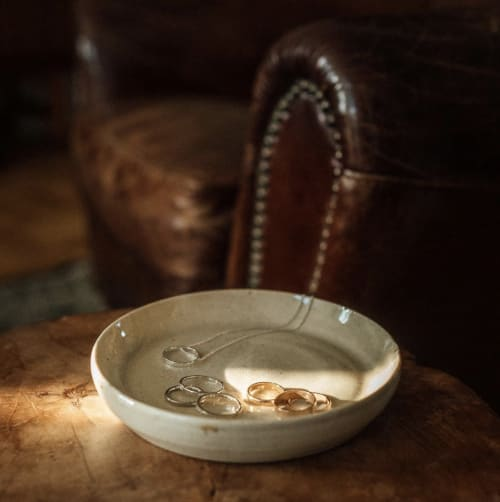 Ceramic Plates by Diana Luong Ceramics seen at Private Residence, Los Angeles - Jewelry Plate