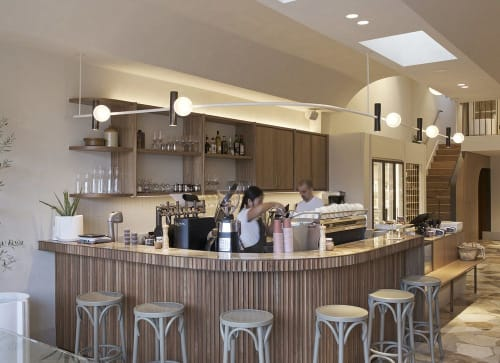 Custom Architectural Lighting By Giffin Design Seen At Via Porta Eatery Deli Mont Albert Wescover