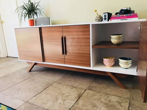 Furniture by Draftwood Design seen at Private Residence, Phoenix - Mid Century Style TV Cabinet!