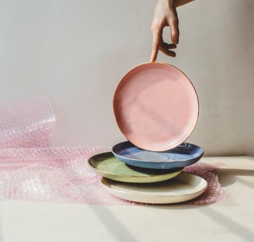 Ceramic Plates by SIND STUDIO seen at Café Foufou, Paris - VELVET DESSERTS small porcelain plates