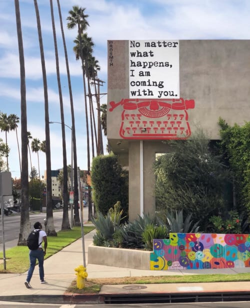 Murals by WRDSMTH seen at Noosa Shire - No Matter What