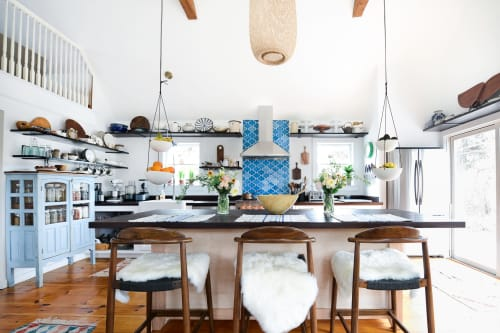 Furniture by Carter Mitchell Woodworking seen at Fare Isle's (Kaity's) Kitchen, Nantucket - Custom Kitchen Island