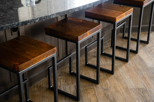 Chairs by Forge & Fell seen at Private Residence, Edmonton - Arie Bar Stool