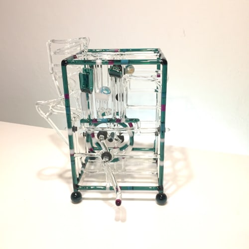 Sculptures by Bandhu Dunham seen at Private Residence, Scottsdale - FRED Marble Machine #14