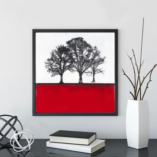 Paintings by Shari Lyon Fine Art seen at Private Residence - Scarlett Trees