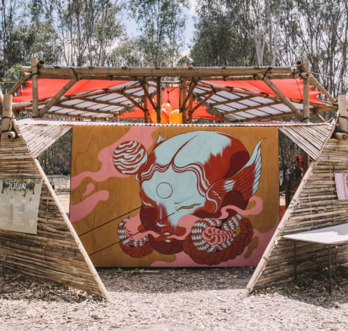 Murals by Creature Creature seen at Tocumwal, Tocumwal - Eve