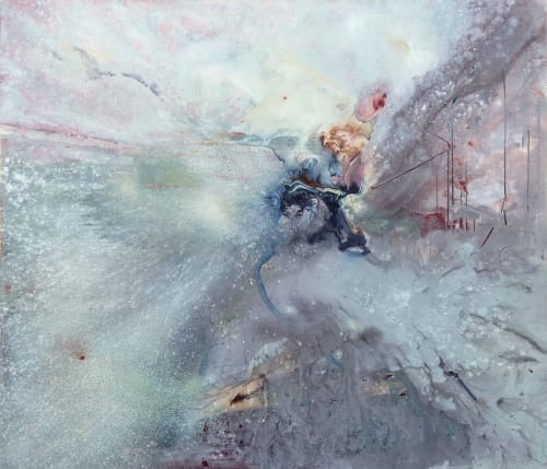 """Paintings by Lisa Marie Jakab seen at Private Residence - """"Edifice Dust"""" Painting"""