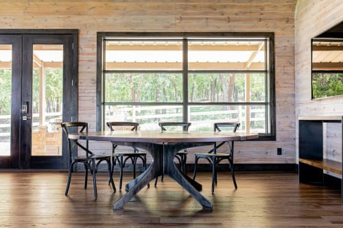 Tables by Stål Timber - Design and Build Company seen at Private Residence, Argyle - Stål Century Table