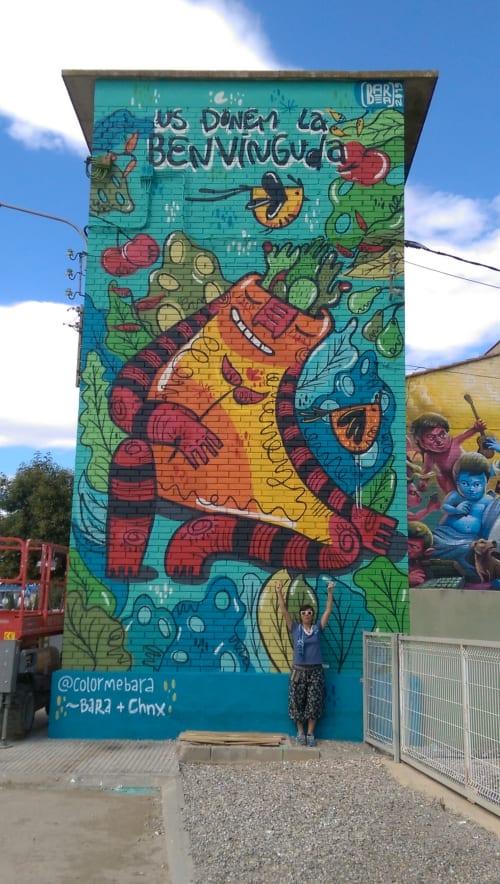 Street Murals by Bara::Bara seen at Torrefarrera, Torrefarrera - Gaia and the world