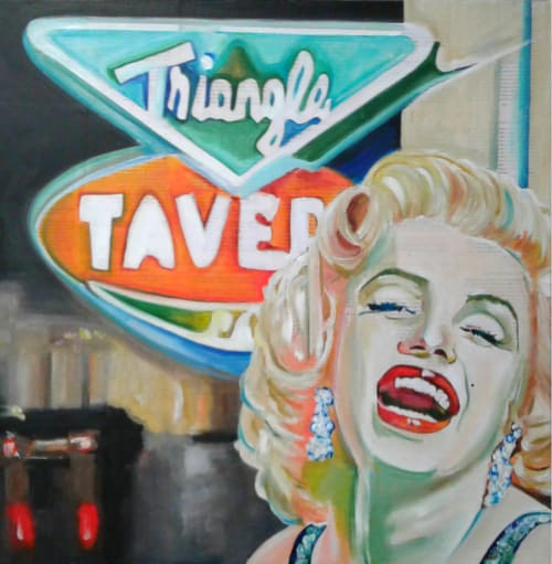 Paintings by Cheryl Hicks seen at The Monticello Hotel, Longview, WA, Longview - Hanging Out at the Triangle Tavern