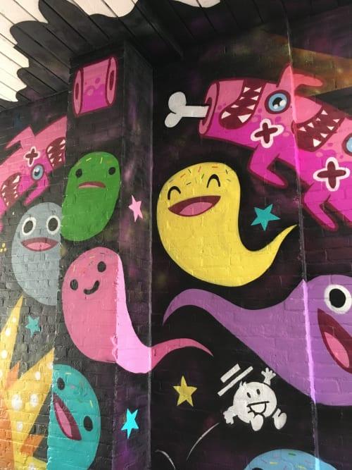 Street Murals by Doodkonijn seen at Rotterdam, Rotterdam - Tunnel Untitled