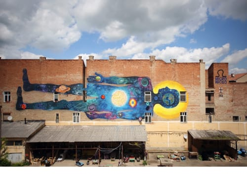 Street Murals by KERO ZEN seen at Cluj-Napoca, Cluj-Napoca - Micro-Macro Cosmos OM