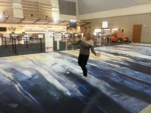 Murals by Anne Peterson seen at Boise Airport, Boise - Along The Rivers Edge