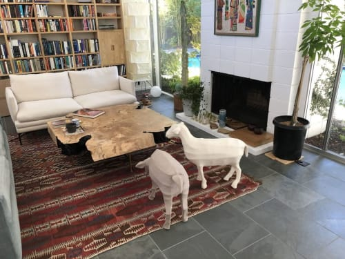 Sculptures by Ronel Jordaan seen at Private Residence, San Francisco - Felted Sheep - White
