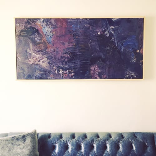 Paintings by Elmira Lilic at Private Residence, San Francisco - Charoite