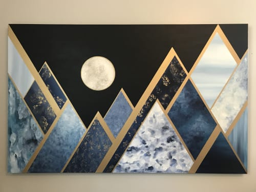 Paintings by Jenny Handel Art at Private Residence, Canfield - Blue Mountain Moon