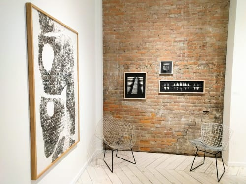 Art & Wall Decor by Karine Demers Artiste at Private Residence, Montreal - Pliage 5 / Maps