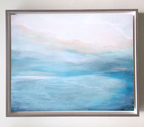 Paintings by Lesley Frenz at Private Residence, Greenville - Too Good to Be True Kind of Love and Sure As I'm Breathing