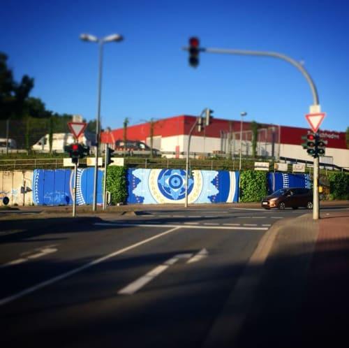 Street Murals by Juliene Sinclair Studios seen at Am Alten Eisenwerk, Lüneburg - Am Alten Easenwerk Mural