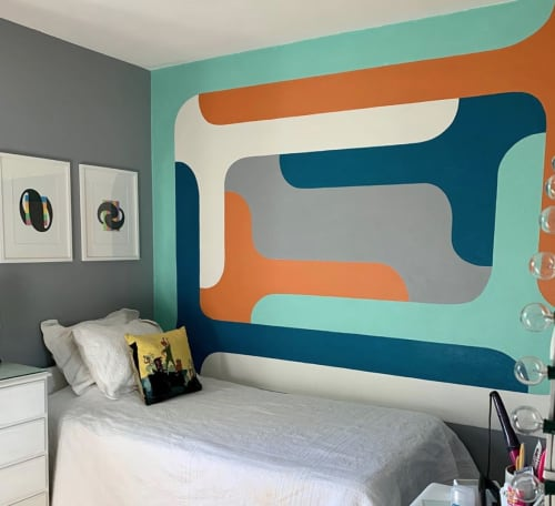 Murals by Mark Creegan seen at Private Residence, Jacksonville - Dopey Formalist Mural