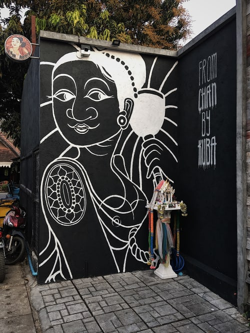 Street Murals by Kuba seen at Pai, Pai - La Mom Hostelo