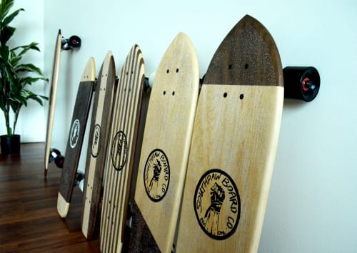 Art & Wall Decor by Southpaw Board Co seen at Private Residence, Portland - Modern Designer Skateboards in Pearl District