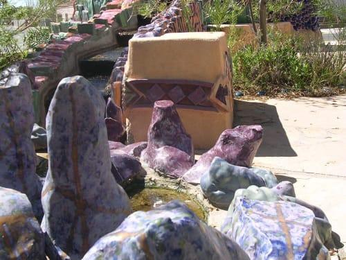 Public Sculptures by Shel Neymark seen at Truth or Consequences, Truth or Consequences - Las Palomas Plaza
