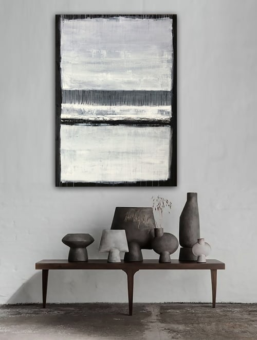 Paintings by Linnea Heide contemporary fine art seen at Private Residence - 'SERAPHiM' original abstract painting by Linnea Heide