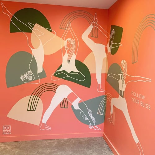 Murals by Kyla K Design seen at The Welder, Christchurch - Follow Your Bliss