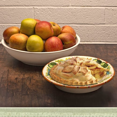 Tableware by HF Coors ~ Dinnerware Made 100% in the USA seen at Private Residence - Pie Plate & Large Serving Bowl