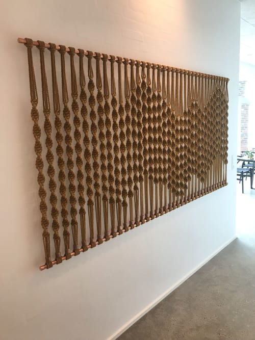 Macrame Wall Hanging by VAD fiberart seen at Private Residence, Ikast - The wave