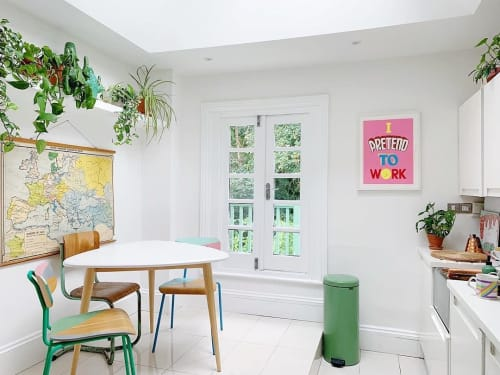Art & Wall Decor by Andy Smith seen at Private Residence, London - This I Pretend to Work print