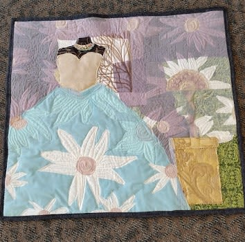 Art & Wall Decor by Sweet Pea Quilts & Crafts, LLC seen at Ivoryton, Essex - Blue Dress in the Window