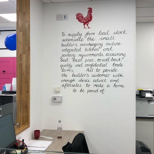 Murals by Louise Dean - Artist seen at Howdens - Paddock Wood, Paddock Wood - Hand Lettering Art