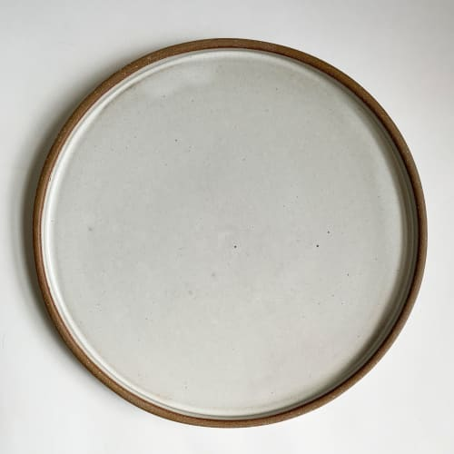 Ceramic Plates by Keyes Pottery seen at Private Residence, Marshall - Dinner Plate in Linen