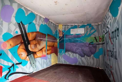 Murals by H11235 seen at Koseli School, Kathmandu - Classroom mural