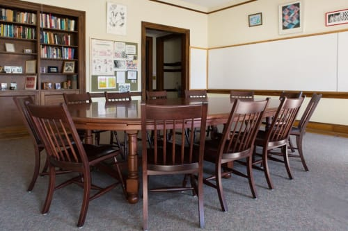 Chairs by Eustis Chair seen at Phillips Exeter Academy, Exeter - Harkness Chair