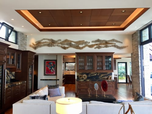 Sculptures by Ron Dier Design seen at Private Home, San Diego, CA, San Diego - Sound Wave Wall Sculpture