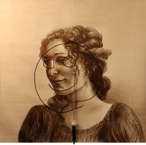 Paintings by Tibor Hargitai Art seen at European Museum of Modern Art, Barcelona - DOTART WOMEN