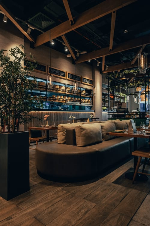 Interior Design by Aces of Space seen at Mama Pho, Dubai - Mama Pho