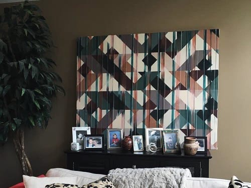 Paintings by Taryn Coulson seen at Private Residence, Ontario - Geometric painting