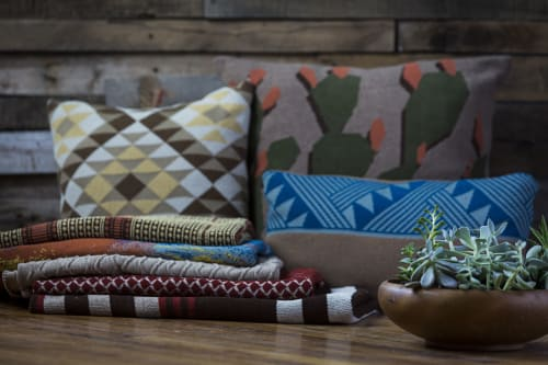 Pillows by Studio Twist seen at Private Residence, Phoenix - Knitted Throws and Pillows in Polypropylene & Polyplush - Sonoran