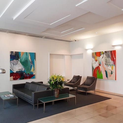 Paintings by Karl Bielelk seen at Private Residence, London - Abstract Paintings