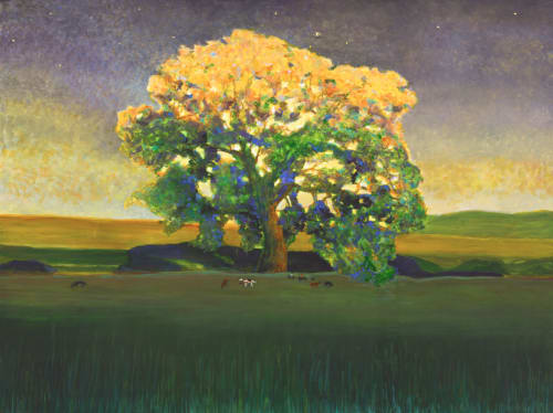 Oak at Twilight   Paintings by Susan Hall