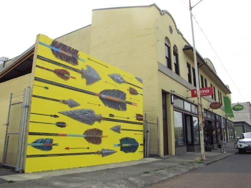 Murals by Fontana Studios seen at 900 SE Hawthorne Blvd, Portland - Hawthorne Arrows