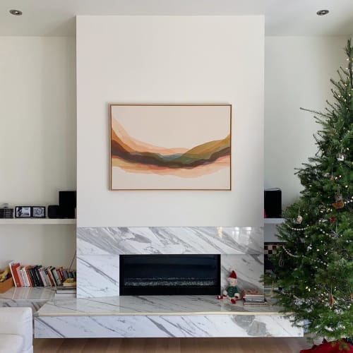Paintings by Lauren Mycroft Art seen at Private Residence, Victoria - Abstract Painting
