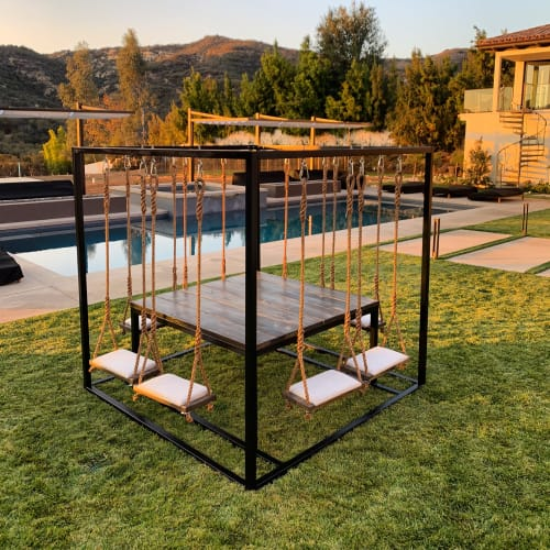 Tables by SwingTables seen at Private Residence, Calabasas - 8-Seater 2.0